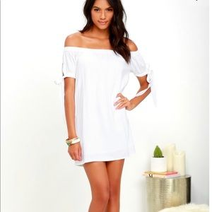 Lulus White Dress Off The Shoulder Small S